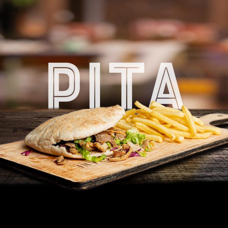 Kebab em pão Pita